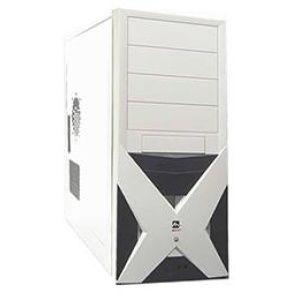 CASE MERCURY KM-83, 350W, 2xUSB+Audio, black/white