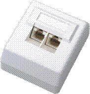 Zásuvka UTP dvojzásuvka nad omietku 45 st.- Cat 5e - 50271521