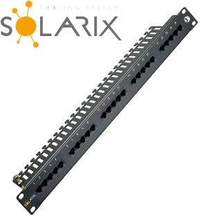 "SOLARIX 19"" ISDN panel 25 x RJ45 čierny 1U"
