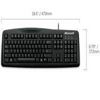 Klávesnica Microsoft Wired Keyboard 200 USB black CZ&SK - JWD-00041