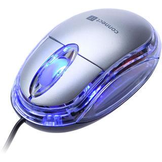 CON IT Optická myš podsvietená strieborná
