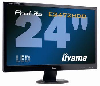 "Monitor LCD 24"" LCD iiyama E2472HDD -LED,DVI,D-SUB,2ms,5 000 000:1,Full HD 1080p - E2472HDD"