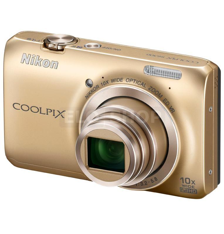 Fotoaparát NIKON COOLPIX S6300 žltý/zlatý