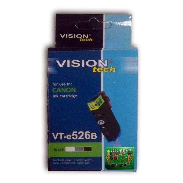 Cartridge kompatibil Canon CLI-526Bk chip black Vision - VT-CAN-CLI526Bch
