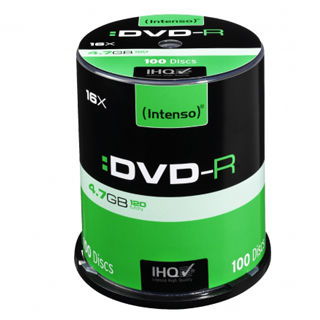 INTENSO DVD-R Cake Case 4,7GB 100ks