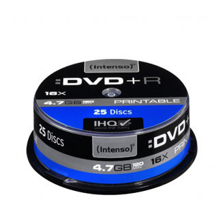 INTENSO DVD+R Cake Case 4,7GB PRINT 25ks