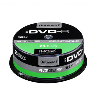 INTENSO DVD-R Cake Case 4,7GB PRINT 25ks