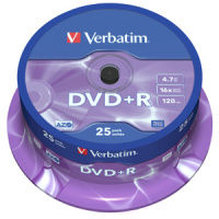 DVD - R Verbatim 4.7GB 16x CAKE 25pcs printable