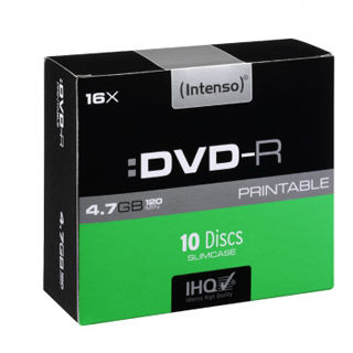 INTENSO DVD-R Slim Case 4,7GB PRINT 10ks