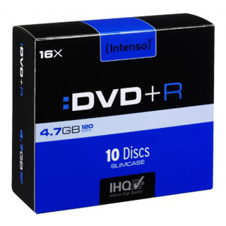 INTENSO DVD+R Slim Case 4,7GB 10ks
