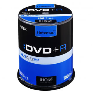 INTENSO DVD+R Cake Case 4,7GB 100ks