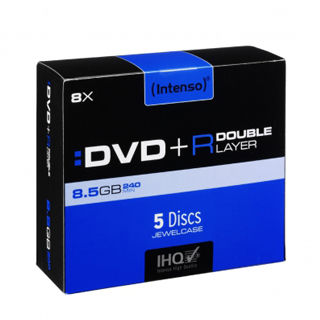 INTENSO DVD+R Slim Case 8,5GB DL 5ks