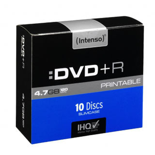 INTENSO DVD+R Slim Case 4,7GB PRINT 10ks