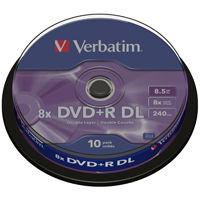 DVD + R  VERBATIM DL 8.5 GB 8x  10cake 43666