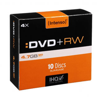 INTENSO DVD+RW Slim Case 4,7GB 10ks