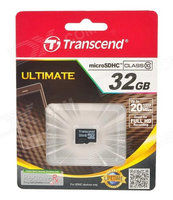 Transcend Micro SDHC karta 32GB Class 10 + Adaptér - TS32GUSDHC10