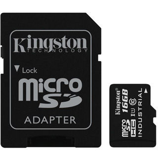 KINGSTON Micro SDHC INDUSTRIAL 16GB UHS-I + Adap