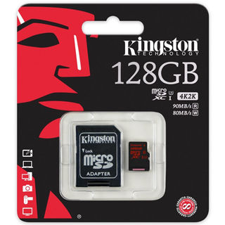 KINGSTON -- Micro SDXC 128GB UHS-I U3 + adaptér
