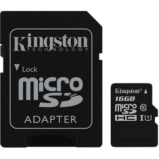 Kingston Micro SDHC Card 16GB Class10 UHS-I