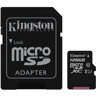 Kingston Micro SDXC Card 128GB Class10 UHS-I