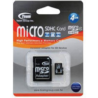 TEAM -- Micro SDXC a SDHC 8GB CL4 + adaptér