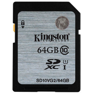 KINGSTON -- SDXC card 64GB Class10 VG2