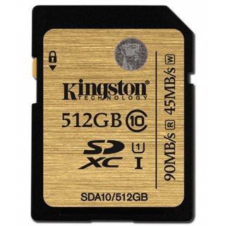 KINGSTON -- SDXC card 512GB Class10 UHS-I