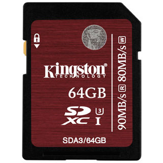 KINGSTON -- SDXC card 64GB Class10 UHS-I U3