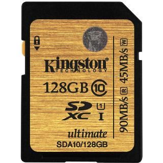 KINGSTON -- SDXC card 128GB Class10 UHS-I