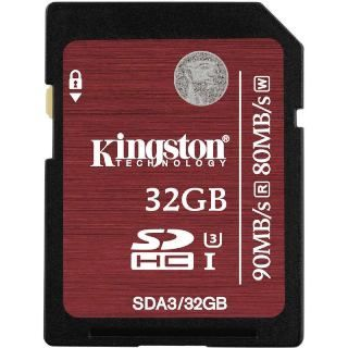KINGSTON -- SDHC card 32GB Class10 UHS-I U3