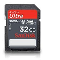 SanDisk SDHC card 32GB CL4