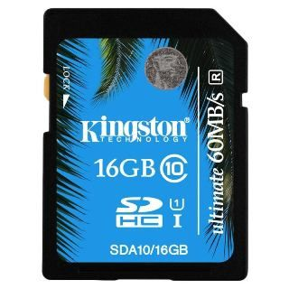 KINGSTON -- SDHC card 16GB Class10 UHS-I