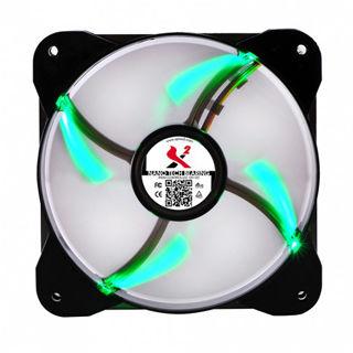 X2 Ventilátor 120N Nano-tech LED Green