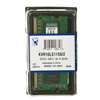 KINGSTON ValueRAM 2GB/DDR3L SO-DIMM/1600MHz/CL11/1