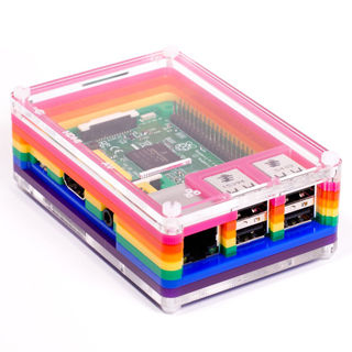 PIMORONI Skrinka pre Raspberry Pi B+/2/3 RAINBOW