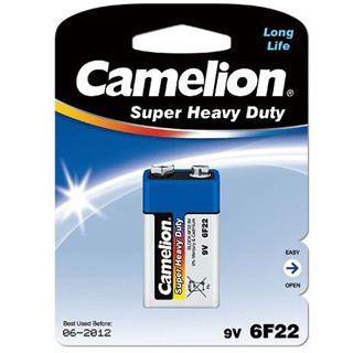 CAMELION Batéria SUPER HD zink-chlorid 9V 1ks 6F22