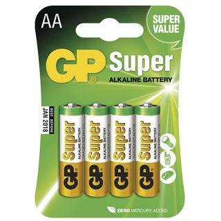 GP BatériE Super Alkalické AA 4ks R06 4BL