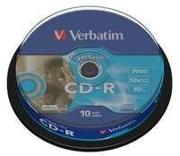 Médiá CD-R Verbatim 80min, 52x, LightScribe, 10cake - 43441