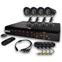 KGUARD security KG-CA104.v2-H02 set 4-kan�lov� rekord�r DVR + 4x farebn� vonkaj�ia kamera
