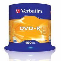 DVD - R médium Verbatim 4.7GB 16x cakebox 100ks - 43549