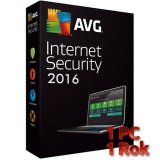 AVG Internet Security 2016 1 PC na 1 rok