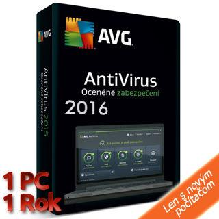 AVG Antivirus 2016 OEM 1PC  1rok