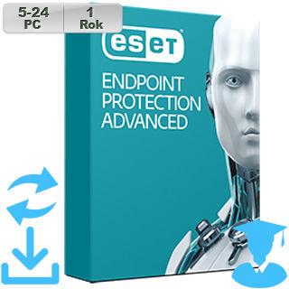 ESET Endpoint Prot Adv 2018 EDU 5-24PC na 1r Aktu