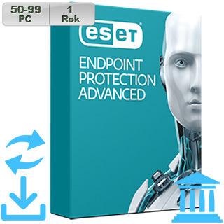 ESET Endpoint Prot Adv GOV 2018 50-99PC na 1r Aktu