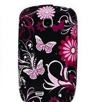 OEM Ochranný kryt pre Black-Pink Butterfly na Sams