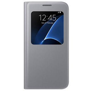 SAMSUNG Púzdro S VIEW pre Galaxy S7 strieborné