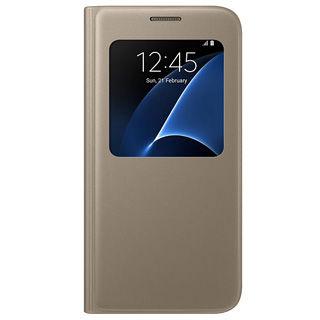 SAMSUNG Púzdro S VIEW pre Galaxy S7 zlaté