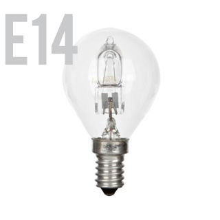 GE Halogen E14/BALL/42W/2800K/630lm/Ćíra