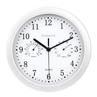 MANTA Nástenné hodiny s tepl. GAMMA CLK003