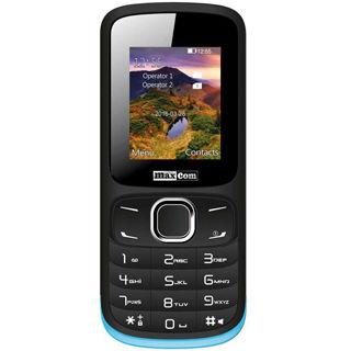 MAXCOM Telefón DUAL Sim MM128 čierno-modrý